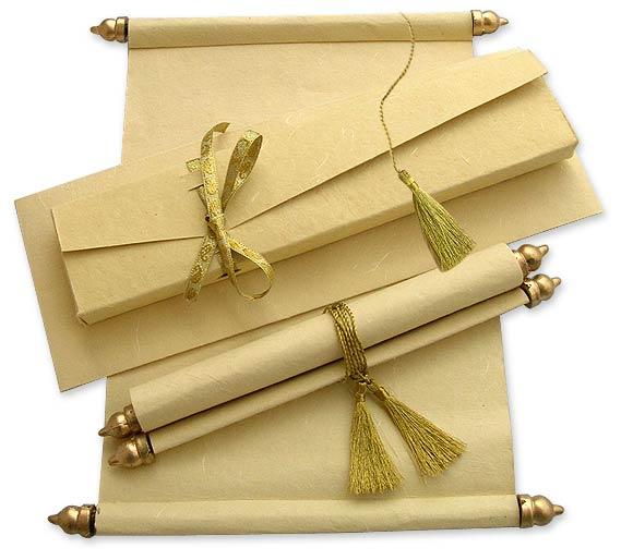 Handmade scroll invitation cindrella scroll invitation cheap scroll